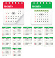 Calender icon set vector | Price: 1 Credit (USD $1)