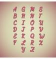 Candy Cane Alphabet vector image