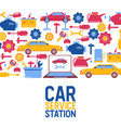 car repair maintenance vehicles diagnostics vector image