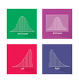 Chart of Normal and Not Normal Distribution Curve vector image vector image