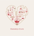 Chemistry of Love vector image