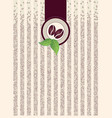 coffee shop pack background border pattern with vector image vector image