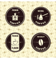 coffee vintage labels vector image