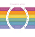 Colorful strips and white semicircles for text 6 vector image