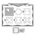coloring book napkins vector image vector image