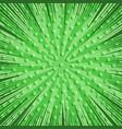 comic green light explosive template vector image