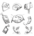 Communication icons collection vector image vector image