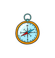 compass color icon vector image vector image