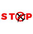 covid19-19 quarantine coronavirus stop airplane vector image