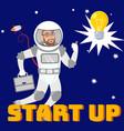 creative startup social media flat banner layout vector image vector image