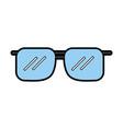 cute blue sunglasses cartoon vector image vector image