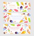 delicious ice cream - set flat design style web vector image
