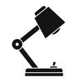 desktop lamp icon simple style vector image
