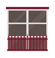 Different types house windows elements vector image