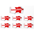 Discount labels with star vector image vector image