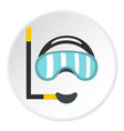 diving mask icon circle vector image vector image