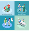 doctor patient isometric design concept vector image vector image