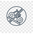 falling rocks concept linear icon isolated on vector image