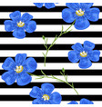 flax blue flowers seamless pattern vector image vector image
