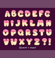 font donut vector image vector image