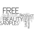free beauty samples what they are and how to find vector image vector image