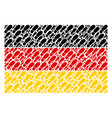 germany flag collage of boot footprint icons vector image vector image