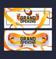 grand opening shop store advertisement set of vector image