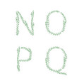 green tree branch set letters alphabet abc vector image