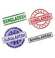 grunge textured bangladesh seal stamps vector image