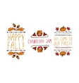Hand drawn autumn elements with inscription vector image