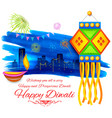 Happy Diwali background kandil vector image vector image