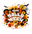 Helloween backgrouns set of color icons vector image vector image