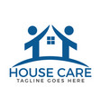 house care logo vector image vector image