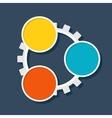 Infographic template cogwheel vector image vector image