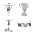 isolated object of success and marathon symbol vector image