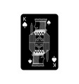 king of spades french playing cards related icon vector image vector image