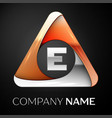 letter e logo symbol in the colorful triangle on vector image vector image