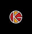 letter kg circle creative modern logo vector image vector image