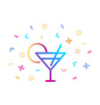 linear colorful cocktail icon symbol fun and vector image