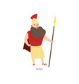 mars mythology ancient god with gold spear and vector image vector image