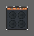music speakers icon column stereo system concept vector image vector image
