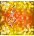 musical treble clef with precious stones on a vector image vector image