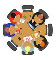 office meeting top view conference group teamwork vector image vector image