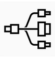 outline beautiful universal cable icon