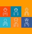 profession set line icons set people avatars vector image