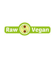 raw vegan logo vector image vector image