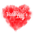 red heart consisting fog or smoke vector image vector image