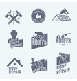 Roofer label set grey vector image vector image