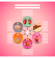 Science infographics with human organs in circles vector image vector image