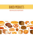 seamless border with bread vector image vector image